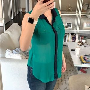 Cotton On Blue/Green Button Down Top